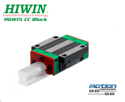 New Hiwin HGW15CCZAC Flange Block / HGW15 Series / 15mm