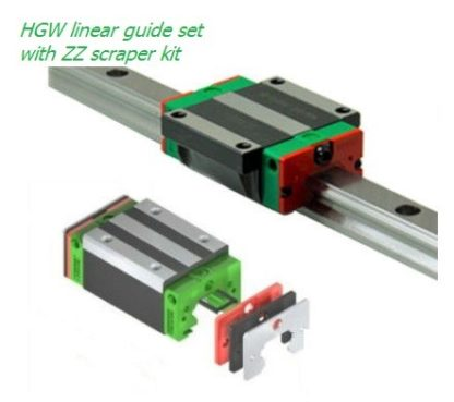 HGW linear guide set with ZZ scraper