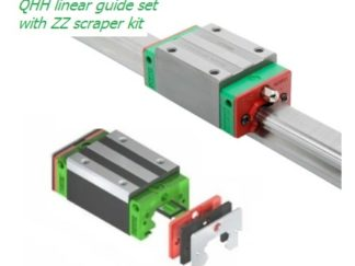 QHH linear guide set with ZZ scraper