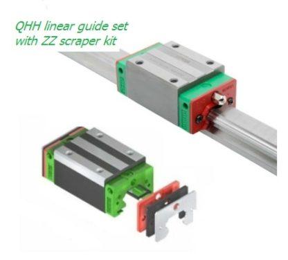QHH linear guide set with ZZ scraper