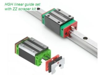 HGH linear guide set with ZZ scraper
