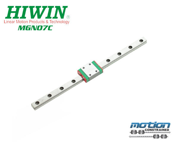 New Hiwin MGN7C Linear Guides from the MGN Series. These Linear Bearings are 25mm to 595mm Long